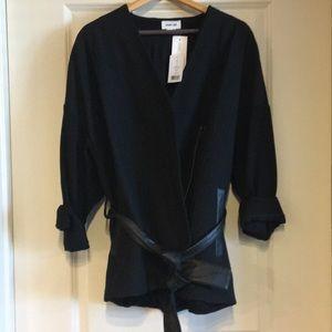 Helmut Lang Rafter Cotton Leather-Belted Jacket